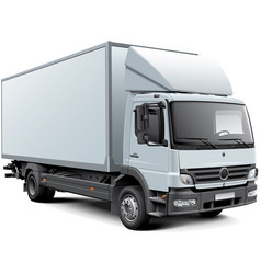 white box truck vector image vector image
