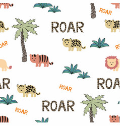 animals wild africa seamless background vector image