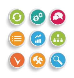 infographics icons set vector image vector image