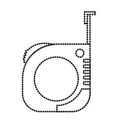measure tape icon monochrome dotted silhouette vector image
