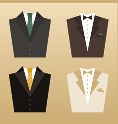suit3 vector image vector image