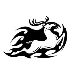 Tribal deer vector image vector image