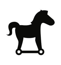 trojan silhouette virus icon vector image