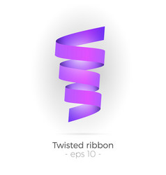 twisted ribbon vector image vector image