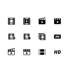 Video icons on white background vector image
