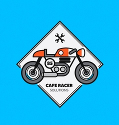 Vintage Motorbike Label vector image vector image