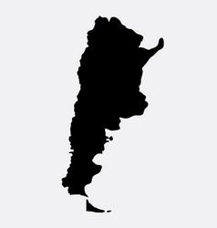 Argentina islad map silhouette vector
