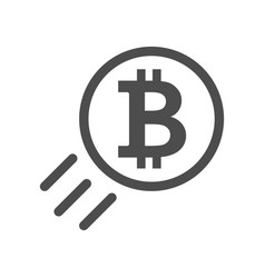 bitcoin sign icon - price go up and raising vector image