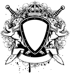 board lions crown vector image vector image