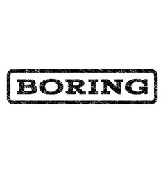 Boring watermark stamp vector