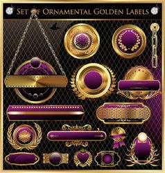 golden framed labels vector image vector image