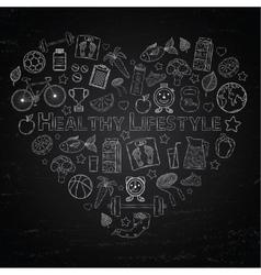 Healthy lifestyle heart vector