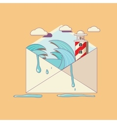 Open letter to the post vector image vector image