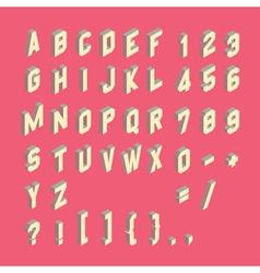 Alphabet set 3d Design element vector image vector image