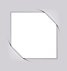 blank white square paper vector image