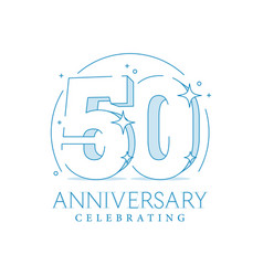 anniversary 50 3d number fifty with sparkles vector image
