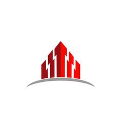 arrow up building logo vector image