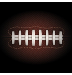 Background of American Football ball vector image