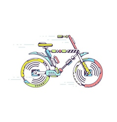 Bicycle moving fast on light background l vector