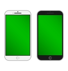 Black and white phones vector