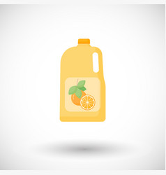 bottle of orange juice flat icon vector image vector image