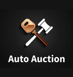 car auction logo design vector image