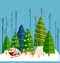Christmas and new year card christmas banner vector