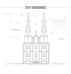 City buildings graphic template Belarus vector image