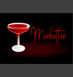 cocktail manhattan vector image