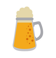 Cold glass beer vector