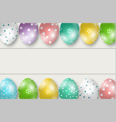 Colorful easter eggs double edge border vector
