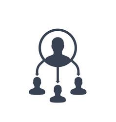 delegate icon vector image