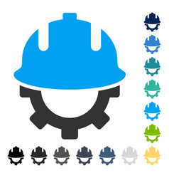 Development helmet icon vector