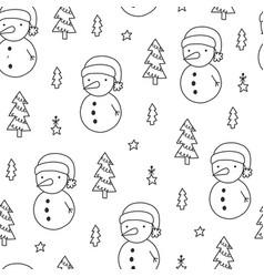 doodle pattern vector image