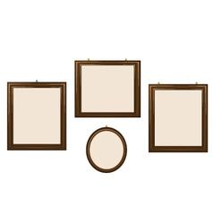 Empty Wooden Frames vector