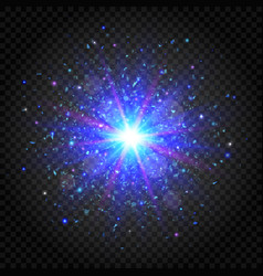 explosion star on transparent background vector image