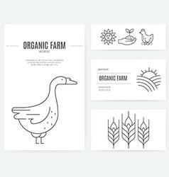 Farming business identity vector