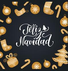 feliz navidad translated merry christmas vector image