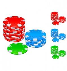 gambling chips vector image vector image