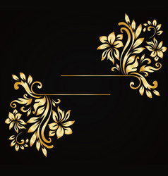 golden luxury style calligraphic design vector image
