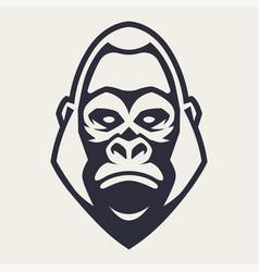 Gorilla mascot icon vector