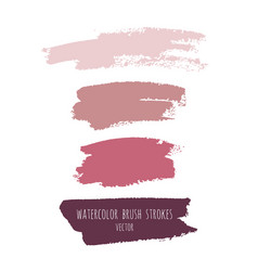 Grunge watercolor ink texture set vector