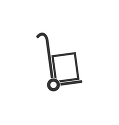 hand truck icon trolley icon vector image