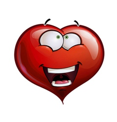 Heart Faces Happy Emoticons Wanderful vector image vector image