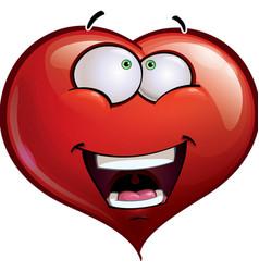 Heart Faces Happy Emoticons Wanderful vector image