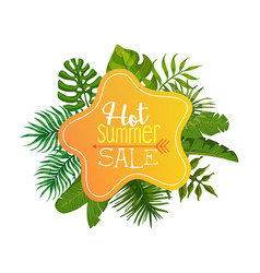 hot summer sale banner poster card invitation vector image