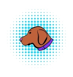 Hunting dog icon comics style vector