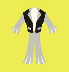 icon in flat design fashion clothes mens suit vector image