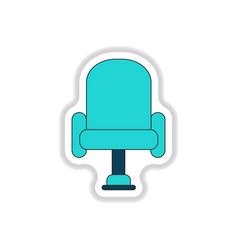 In paper sticker style cineama vector
