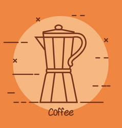 italian coffee maker traditional element linear vector image